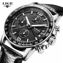 Brand LIGE 2017 new men's watches quartz watch men real three dial luminous waterproof 30M outdoor sports steel watch