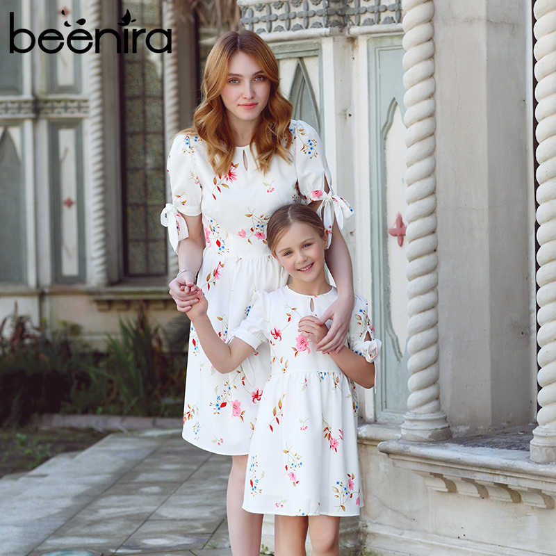 Beenira 2020 New European And American Style Family Dresses Flower