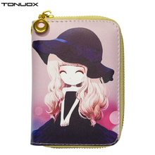 New Women Wallets Lovely Girls Short Lady Zipper Coin Purse Wristlet Handbags Woman Clutch Purses Cards Holder Wallet Burse Bags(China)