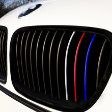 Front Grill Vinyl Strip Sticker Decal for BMW M3 M5 E36 E46 E60 E90 E92 Reflective grill stickers for BMW Models Series 1-7