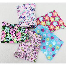 2017 Little Q Baby Girls autumn Cotton Leggings thin flower printed 5pcs/set elastic waist knee length Pants(China)