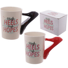 1Piece Ladies Mug High Heels Stiletto Shoe Mug High Heels High Hopes Coffee Mug Gift for Fashionista Addict mug(China)
