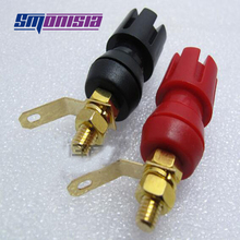 smonisia 5pcs-50pcs 4mm Binding Post Power Speaker Amplifier Plum Terminal Copper Gold-plated Banana Plug Socket