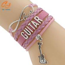 Waxed Cord And Braided Cord  Bracelets  Wording Guitar 5 Colors Europe Style  Drop Shipping PayPal Payment