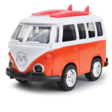 1:43 scale mini diecast car volkswagen T1 MPV micro bus metal model pull back alloy toys with light and musical for kids gifts