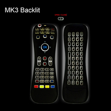 [AVATTO] MK3 Backlit mini Keyboard &Macphone Remote Control Comb 2.4G Wireless IR Learning Air Mouse For Smart tv/Android Box/PC(China)