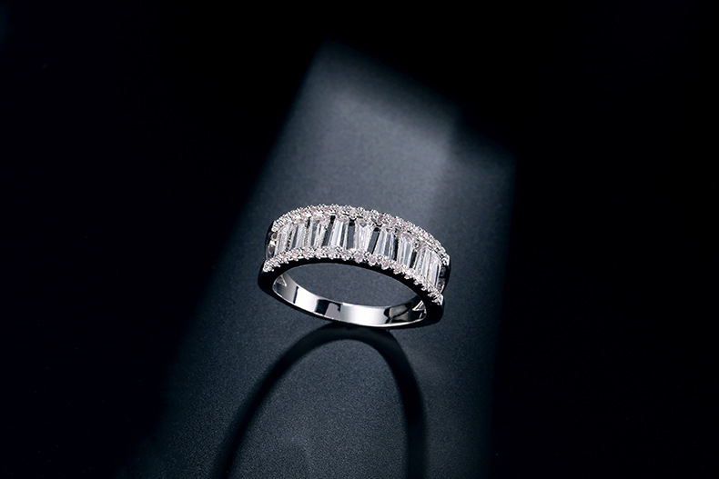 Exquisite Wide Laced Zircon Crystal Ring