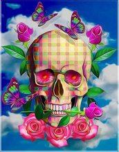 Sugar Skull Diamond Painting Skull Head 5d Diy Diamond Painting Full Drill  Resin Sugar Skull Paintings For Living Room Wall aa3ea569cdff