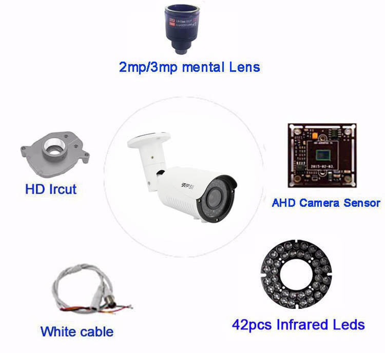 New Metal Case 42pcs infrared Leds 4MP 1080P 960P 720P 2.8mm-12mm Zoom Lens Varifocal AHD CCTV Security Camera Free Shipping2