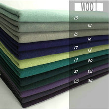 6color Free Shipping Cashmere And Woolen Cut Velvet Wool Fabric For Coat Winter Garment(China)