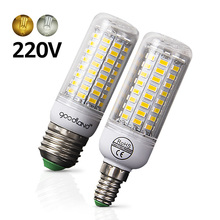 E27 LED Bulb E14 LED Lamp SMD5730 220V 230V LED Light 24 36 48 56 69 72LEDs Corn Light Chandelier Lighting for Home Decoration(China)