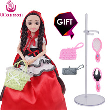 UCanaan Princess Dolls The Little Red Riding-Hood Doll Fashion Fun Educational Toys Girl's Gift Best Christmas Gift for Girl DIY