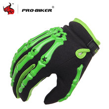 PRO-BIKER Full Finger racing gloves Outdoor Sports Motorbike Gloves BMX ATV MTB bicycle cycling Motorbike handlebar gloves(China)