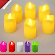12Pcs/Set  Led Colourful Candle Lamp Night Lights Tea lights For Wedding Party Home Decoration Flameless artificial night light