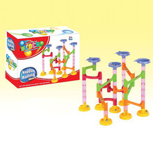 New Children Kids 58Pcs DIY Building Blocks Education Track Run Race Game Tower with Marble Ball Construction(China)