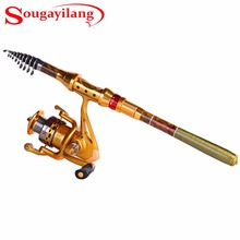Sougayilang 1.8-3.6M Protable Fishing Rod with Reel Set Telescopic Fishing Rod and 14BB Fishing Spinning Reel Fishing Rod Combo