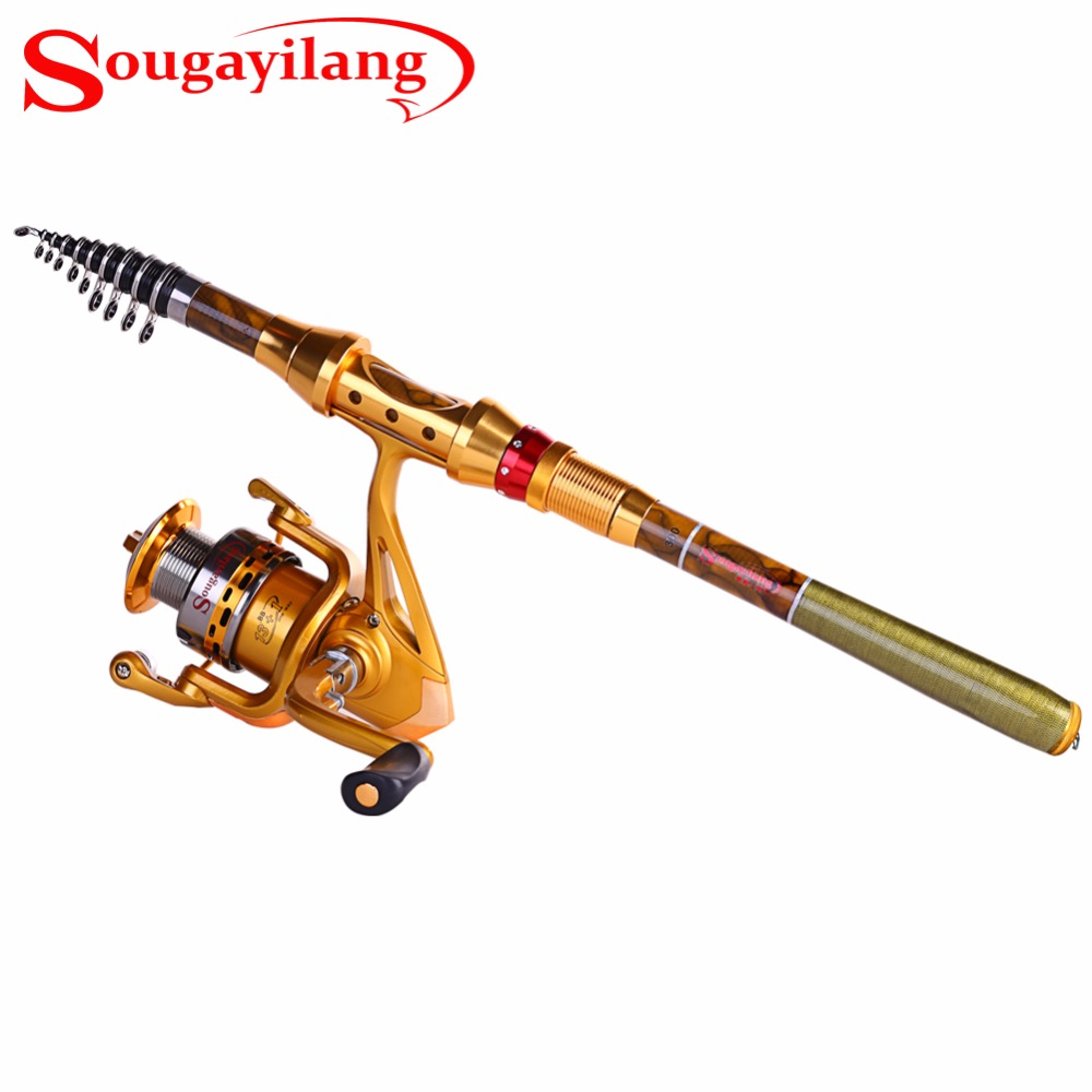 Sougayilang 1.8-3.6M Protable Fishing Rod with Reel Set Telescopic Fishing Rod and 14BB Fishing Spinning Reel Fishing Rod Combo<br><br>Aliexpress