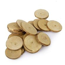 20pcs 5-6CM Wood Log Slices Discs Wedding Save Date Message Crafts Ornaments For DIY Crafts Wedding Centerpieces