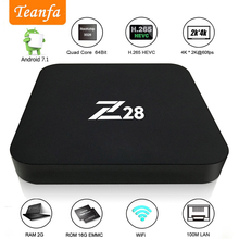 Buy Android 7.1 TV box 2G RAM 16G ROM RK3328 Quad core 2.4GHz WiFi H.265 HDMI 4K kd iptv Smart Set Top Box Media Player PK X96 A95X for $19.99 in AliExpress store