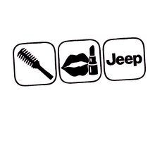 HotMeiNi  for Jeep brush makeup shift girl lipstick sticker Funny race car window pink decal