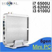 Eglobal 6Gen Intel Core i5 6200U Fanless Intel Skylake Mini PC Barebone Intel HD Graphics 520 4K HDMI VGA USB3.0 DesktopComputer