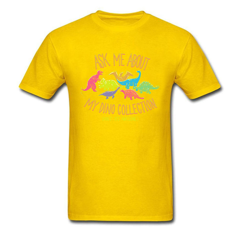 Normal dino collection 5493 Men T Shirt Newest Autumn Short Sleeve Crewneck 100% Cotton Tops & Tees Normal Tee-Shirt dino collection 5493 yellow