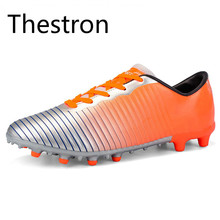 Thestron Soccer Cleats Football Shoes Men Children Women Kids Youth Soccer Cleats Training Professional Original Soccer Football(China)