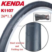 KENDA bicycle tire 26er 26*1.5 mountain bike tires 26 ultralight 470g MTB folding slick tyres 60TPI anti prick bike accessories