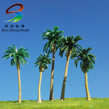 10cm Cocos nucifera ABS plastic model palm trees for scenery train layout constructions