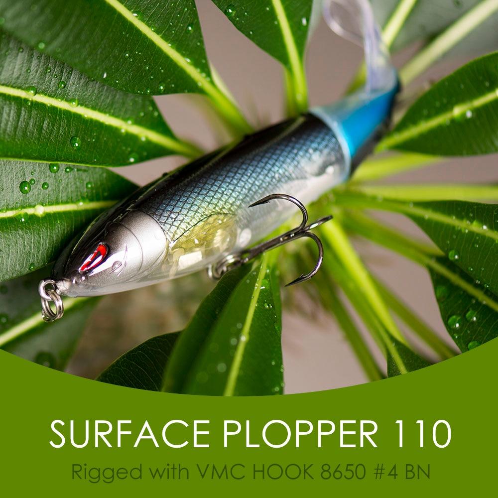 1pc fishing lure 13g//10cm topwater rotating tail vmc hooks bass fishing baits  M