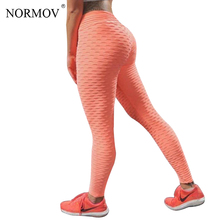 Buy NORMOV Sexy Push High Waist Leggings Women Workout Leggings Femme Fitness Clothing Solid Black Breathable Jeggings 5 Color for $10.68 in AliExpress store
