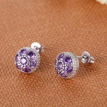 925 Earring New Arrival 925 Nice Jewelry Stud Earrings Cross Gift For Women Men Cute Earring R924(China)