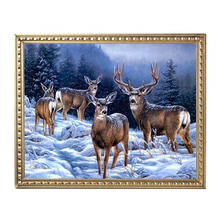 Diamond Painting Deer Winter Winter Landscapes Kit Christmas Diamond Painting Embroidery DIY Art And Craft Sets Picture Puzzle