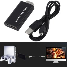 Mini for PS2 to HDMI Video Converter Adapter with 3.5mm Audio Output for HDTV Eletronic Hot