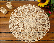 Handmade Crochet flower Cotton Lace tablecloths idyllic small round decorative Cushion Cover cloth Openwork Doilies