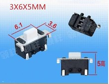 SMD space formula 3X6X5MM Tactile Tact Push Button Micro Switch Momentary 3*6*5(China)