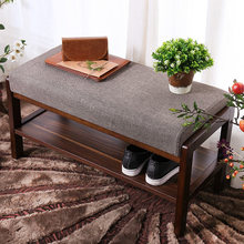 Upholstered Shoe Bench With Storage Great For Entryway or Closet, Solid Wood Shoe Bench Ottoman With Padded Seat For Comfortable(China)