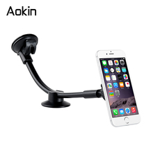 Aokin Universal Car Phone Holder Long Arm Windshield Dashboard Cradle Phone Holders For iphone 6s Samsung S8 Xiaomi Mobile Phone(China)