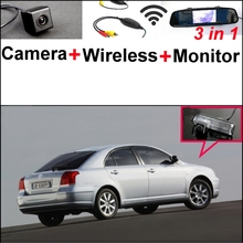 3 in1 Special Rear View Camera + Wireless Receiver + Mirror Monitor Backup Parking System For TOYOTA Avensis T250 T270 2003~2014(China)