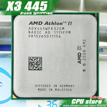 AMD Athlon II X3 445 CPU Processor Triple-Core (3.1Ghz/ L2=1.5M /95W / 2000GHz)Socket am3 am2+ free shipping 938 pin sell X3 440(China)
