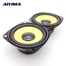 AIYIMA 2Pcs 3Inch Full Range Speaker Gold Foam Edge Black Magnetic Multimedia Loudspeaker DIY HIFI 4Ohm 10W 78MM Audio Speakers
