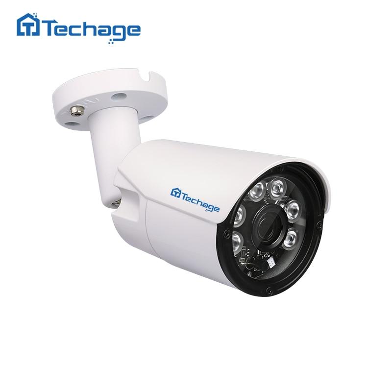 Techage Full HD 1080P 48V POE Camera Outdoor Waterproof 6pcs ARRAY IR Led 2MP CCTV IP Camera P2P ONVIF Security Surveillance IPC<br>