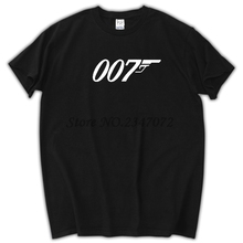 Summer New Brand Quality Movie Film James Bond 007 T Shirts Short Sleeve O Neck Fashion Cotton Male T-shirts