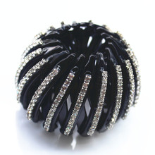Nest Shape 2017 New Hairpin Women Hair Accessories Bud Hair Clip Hair Ties Ponytail Holder Black Shrinkable Hair Claw AB40(China)
