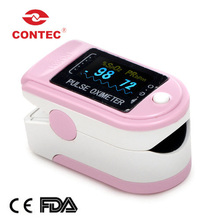 CMS50D Factory Price Home Use Pink Fingertip Pulse Oximeter With Color OLED Display