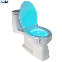 Smart PIR Motion Sensor Toilet Seat Night Light 8 Colors Waterproof Backlight for Toilet Bowl LED Luminaria Lamp WC Nightlight(China)