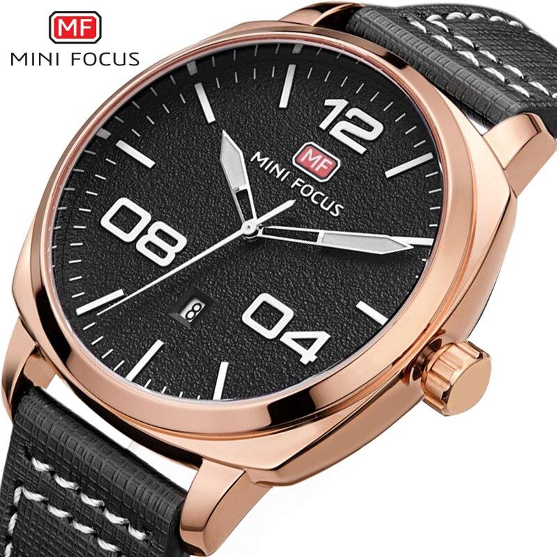 MINI FOCUS Watches Men Luxury Brand Army Military Watch Clock Male Quartz Wrist Watch Relogio Masculino horloges mannen saat<br>