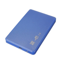 "SATA USB 2.0 SATA 2.5"" HD HDD HARD DISK DRIVE ENCLOSURE EXTERNAL CASE BOX blue"