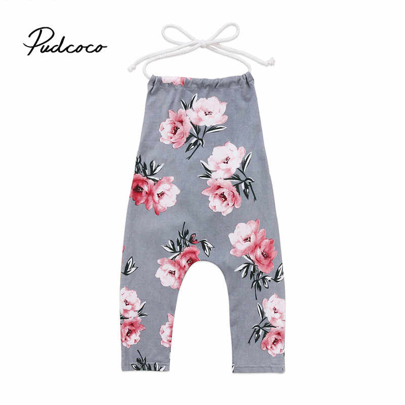 22007d38b2 2018 Infant Floral Romper Baby Boys Girls Overalls Jumpsuit Newborn  Clothing Summer Boho Halter Neck Toddler