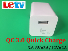 Original 8V/3A 9V/2A Qualcomm Quick Charge 3.0 Usb Wall Fast Charger Adapter For LETV LE 1/1S/1 Pro/Max /2/2 pro/Max 2/3 pro 3
